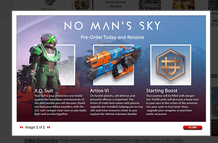No Man's Sky Xbox One Pre Order Bonuses