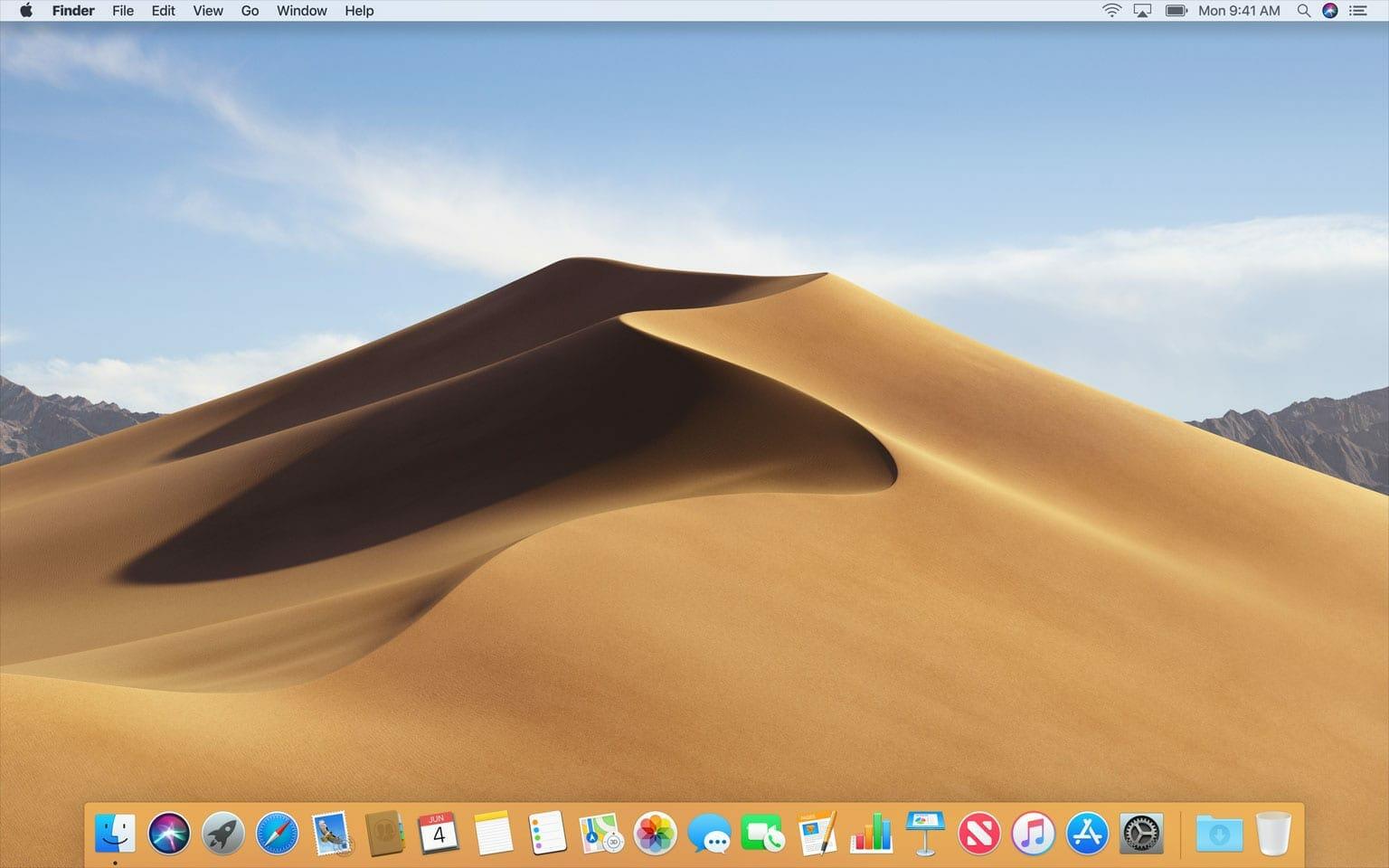 macOS Mojave Wallpaper Sand