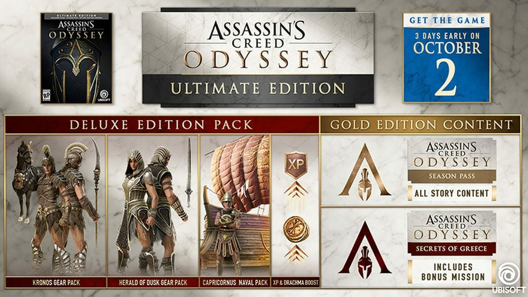 Assassin's creed Odyssey preorder versions