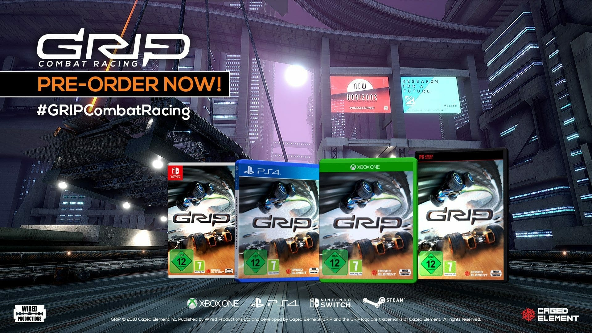 GRIP Combat Racing Box Art