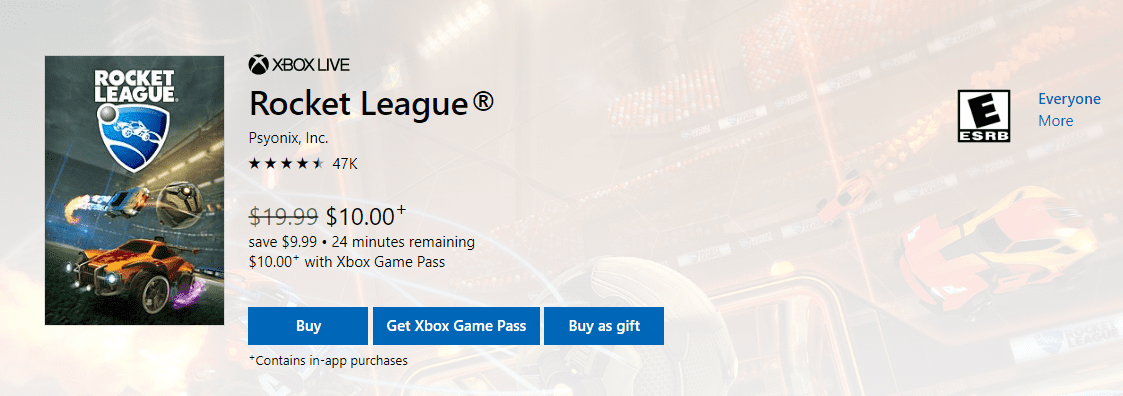 Rocket League for Xbox Game Pass