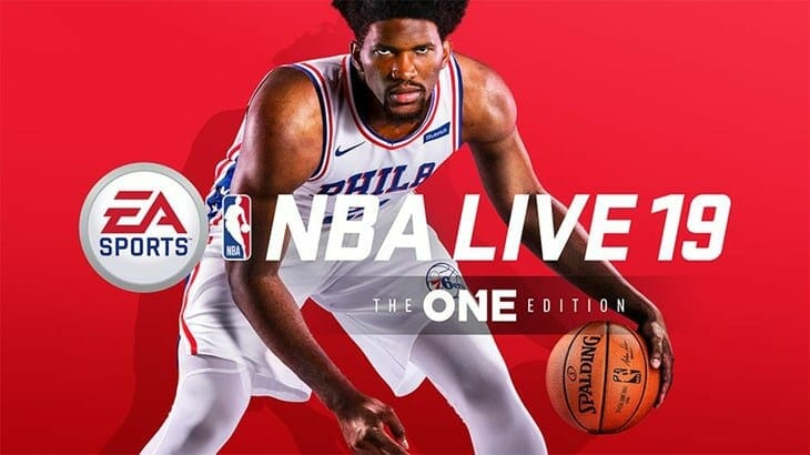 NBA live 19 Cover Athlete Joel Embiid