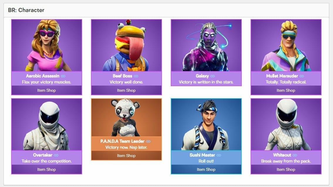 Fortnite Leaked Skins in v5.20