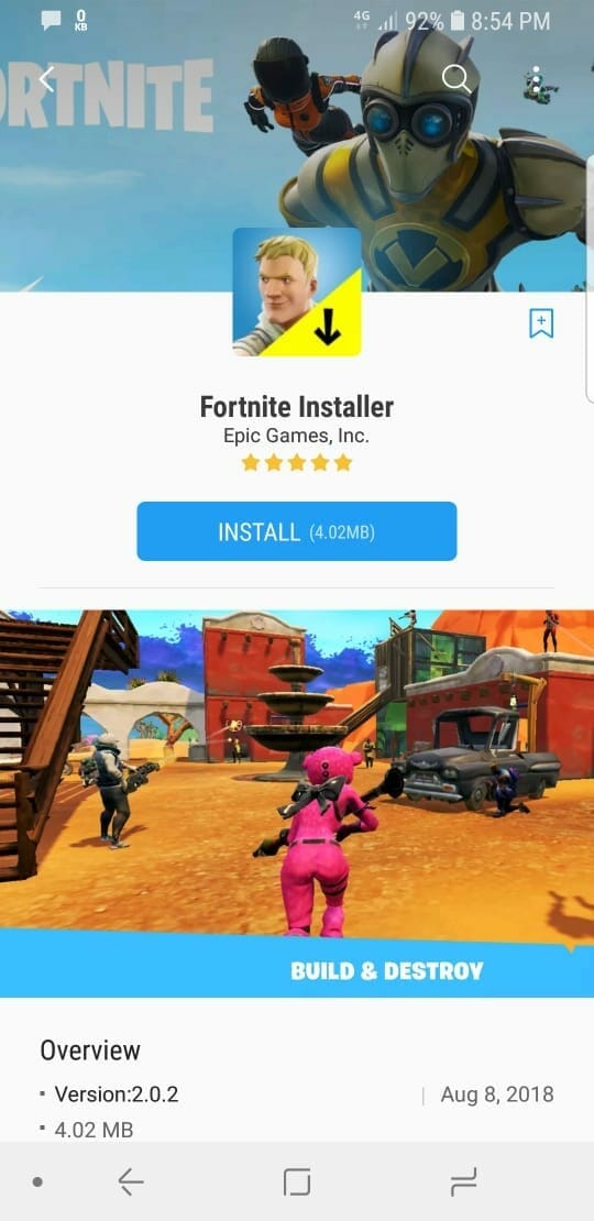 fortnite android app descargar