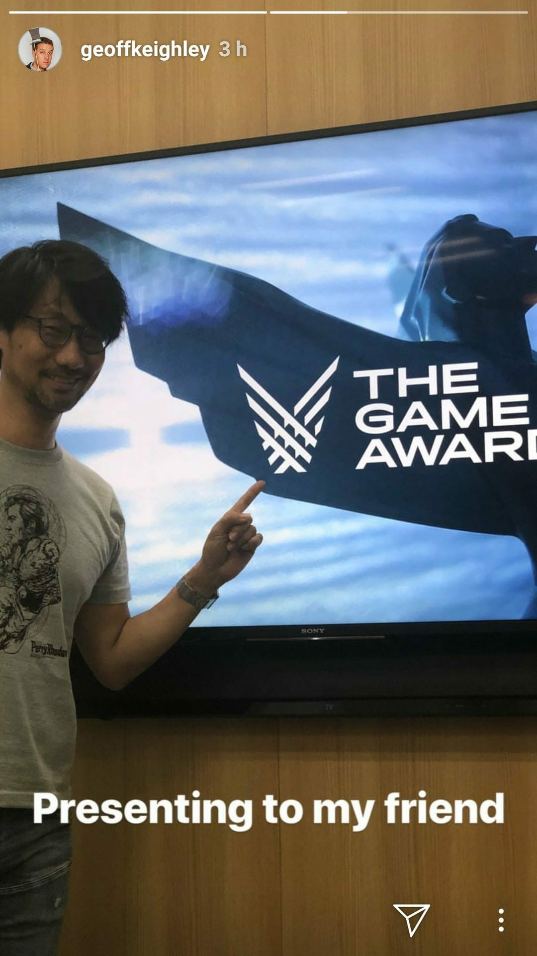 Kojima at The Game Awards 2018
