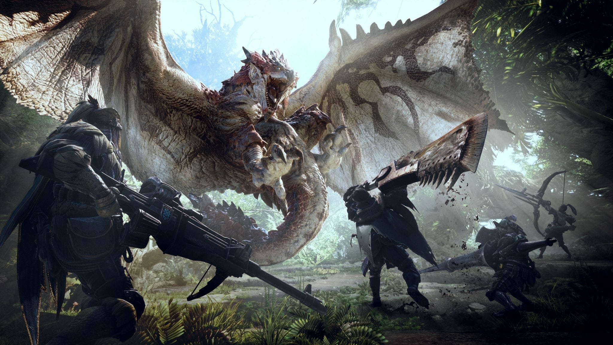 Monster Hunter World ingame Dragon attack - Monster Hunter: World becomes fastest selling Third Party Japanese title of this Generation