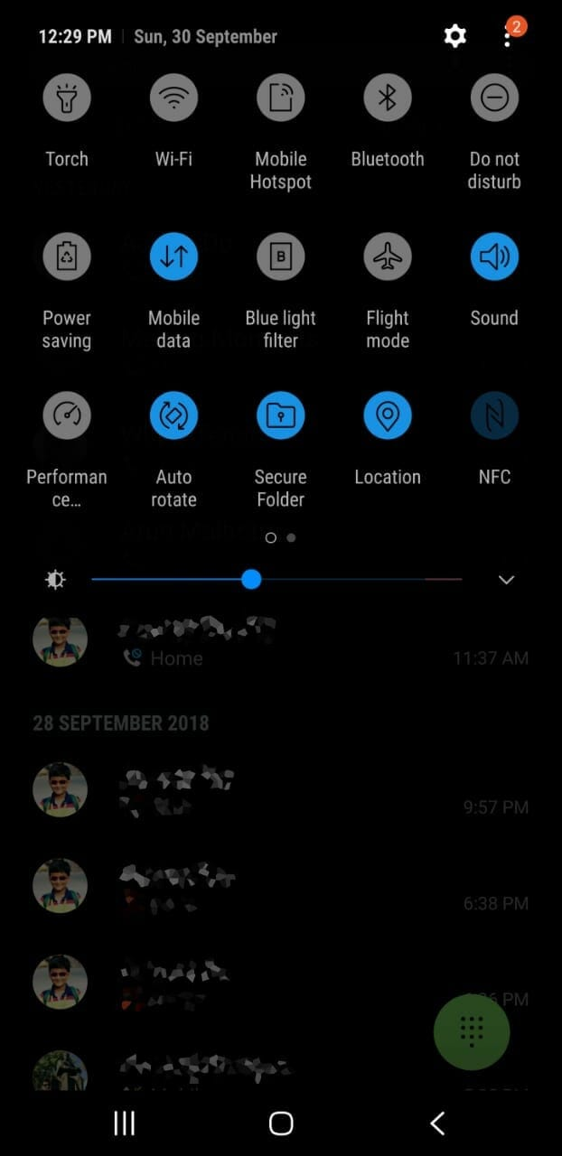 Download Samsung Night Theme from Experience 10 UI for S9/S8/Note 9