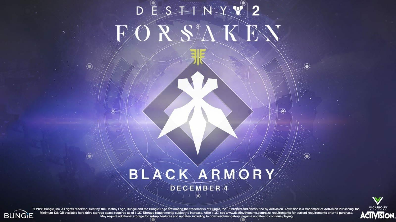 Destiny 2 Forsaken: Black Armory Release Date