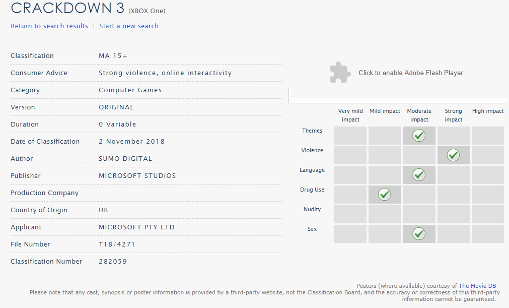 crackdown 3 - Crackdown 3 Gets a Rating From Australian Games Rating Board