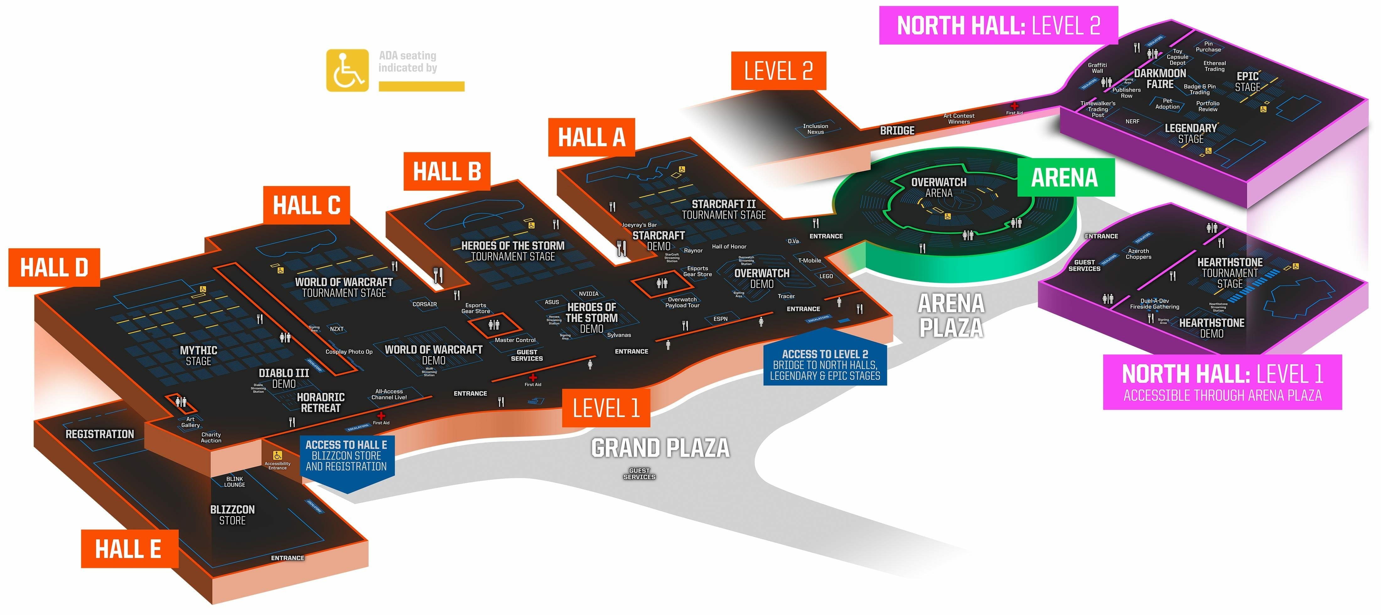 Blizzcon Floor Map