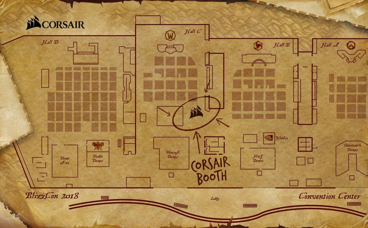 Blizzcon Floor Map from Corsair