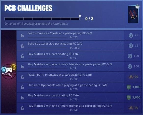 fortnite - Fortnite PCB Challenges For China Have Been Listed