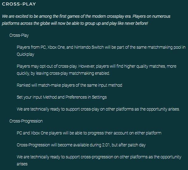 is paladins cross platform