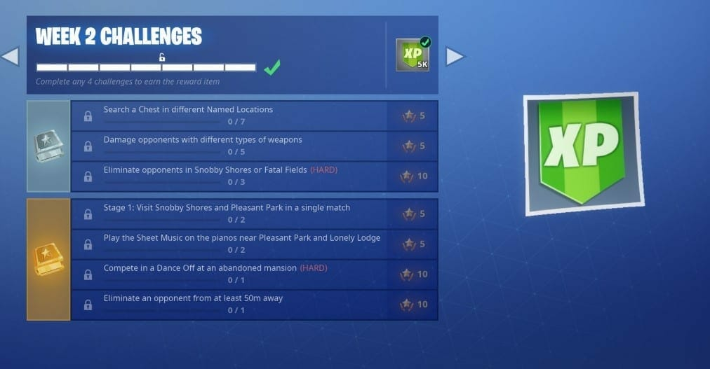 week 2 challenges fortnite