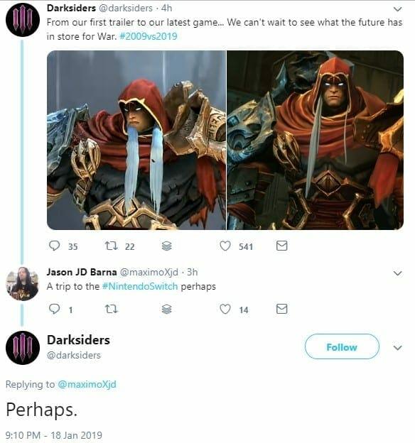 darksiders 1 - RUMOR: Darksiders on Nintendo Switch Could Be Coming Soon