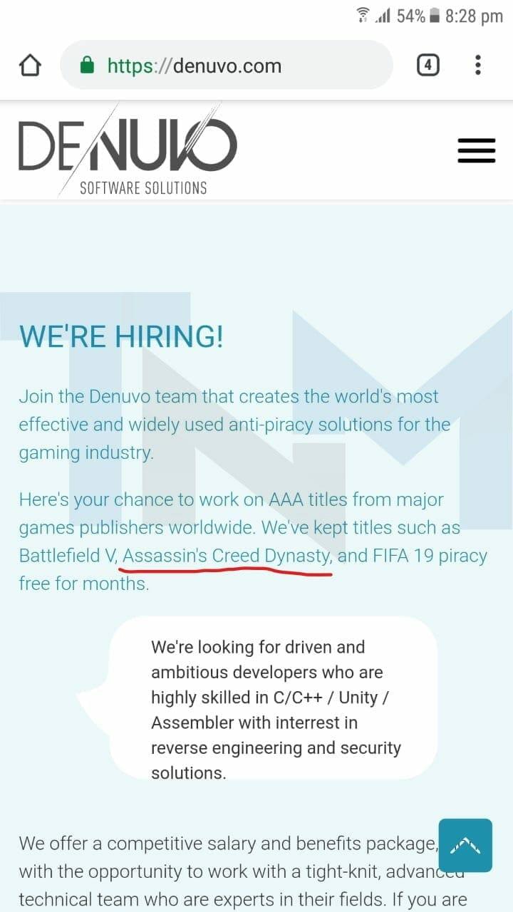 Будет ли  защита Denuvo Assasins Creed Dynasty, как быстро произойдет взлом