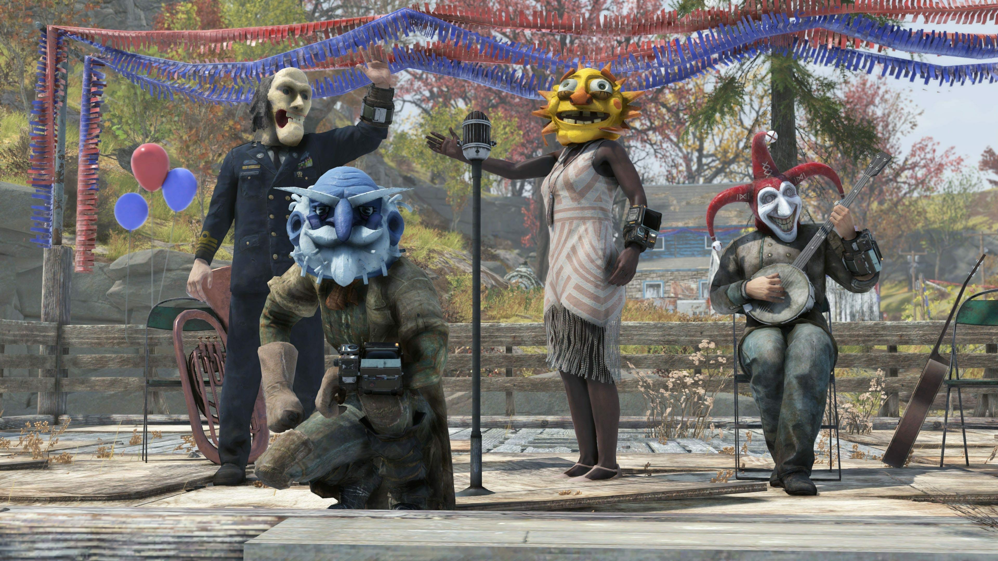 Fallout 76 Fasnacht Masks