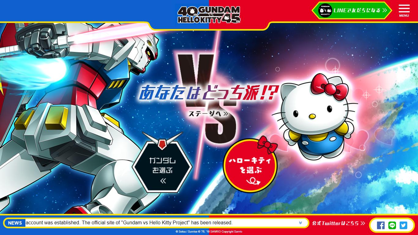 Gundam Vs Hello Kitty Collaboration Announced Thenerdmag