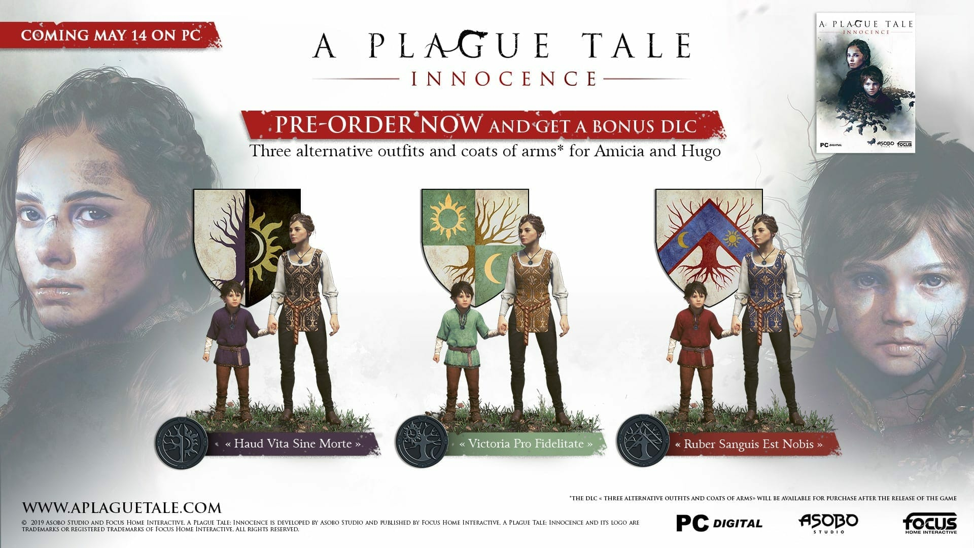 A Plague Tale Innocence Pre Order Bonuses - A Plague Tale: Innocence Pre-Order Bonus for Steam, PS4 and Xbox One