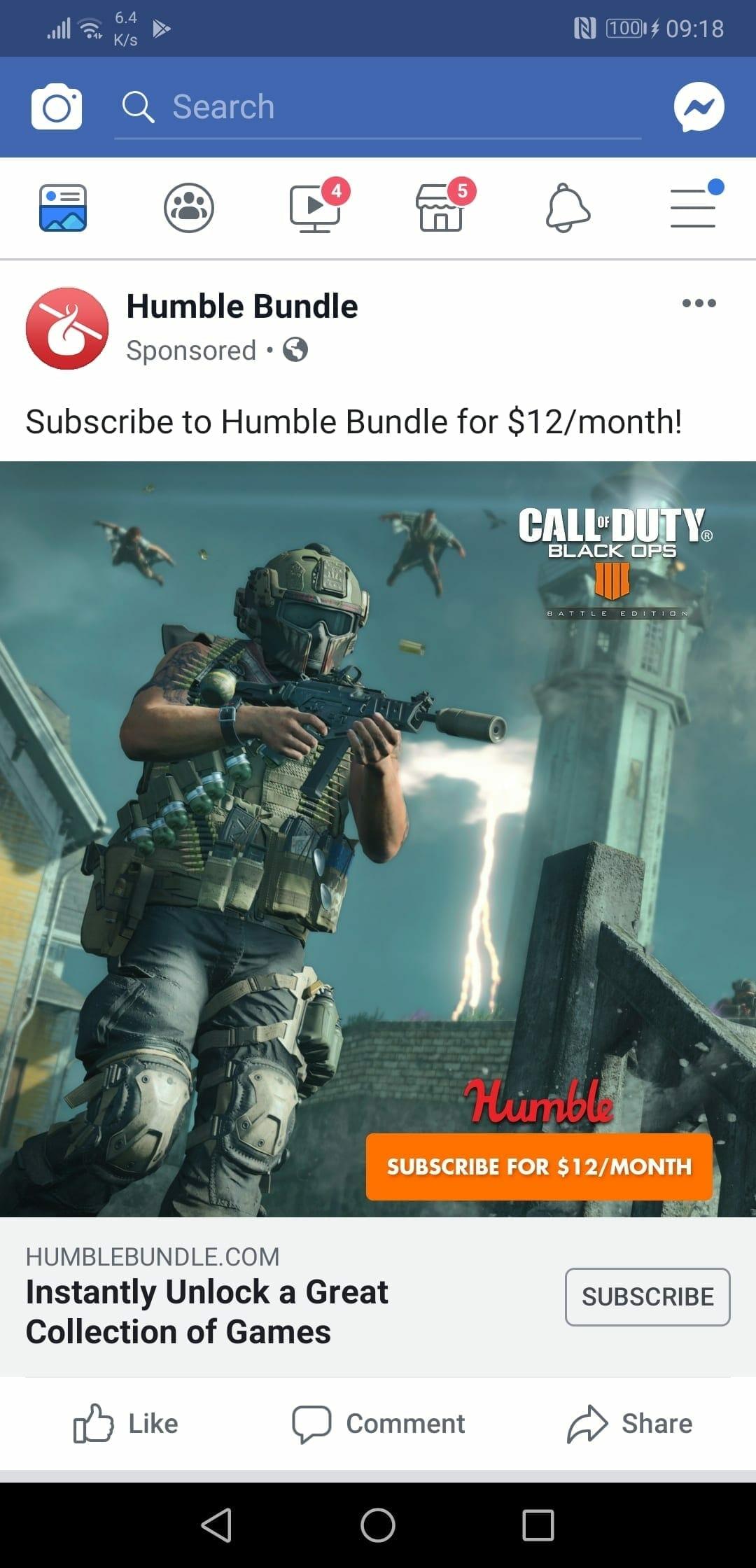 Слух: Call of Duty Black Ops 4 войдет в следующий сборник Humble Bundle