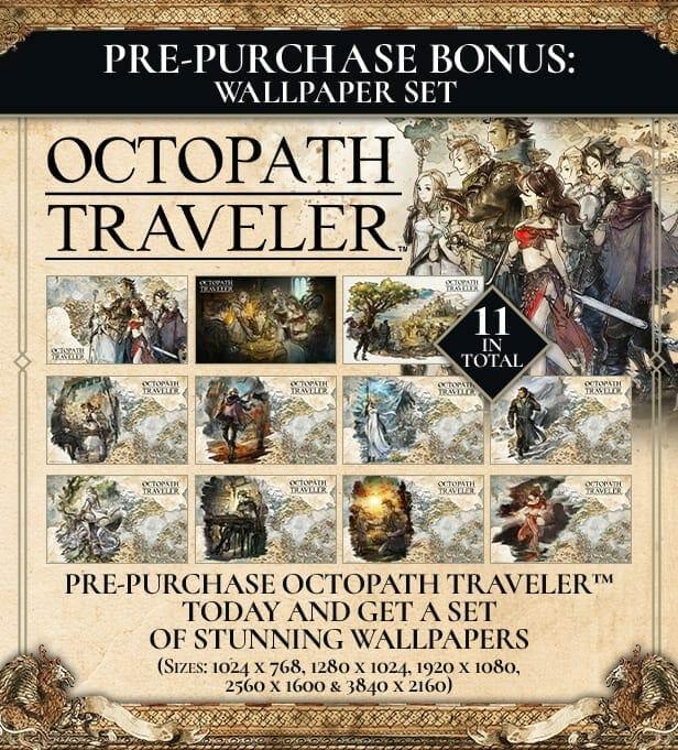 Octopath Traveler Pre Order Bonus for Steam - Octopath Traveler Pre-Order Bonus for Steam Revealed