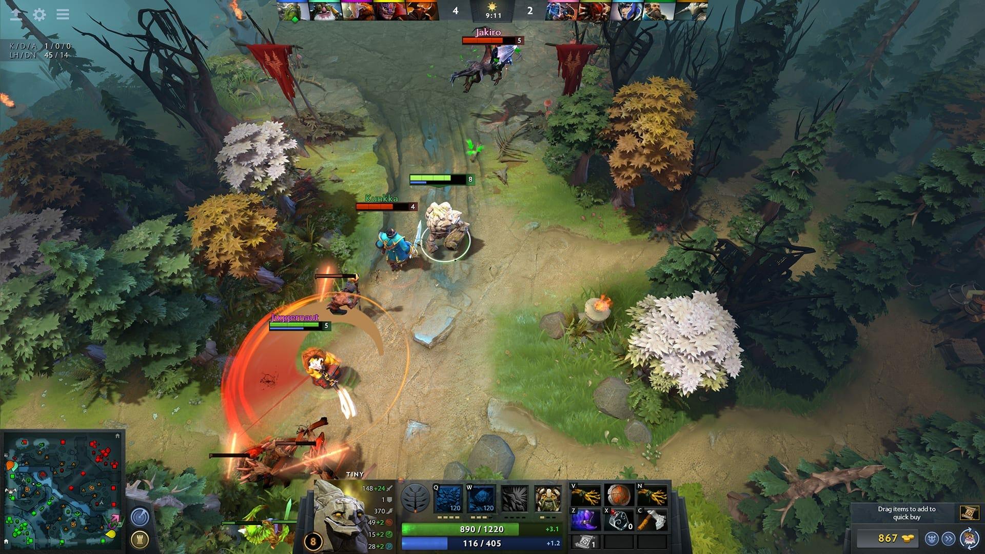 Dota 2 screenshot - Dota 2 7.22c Patch (GAMEPLAY UPDATE): Balancing Heroes Once Again