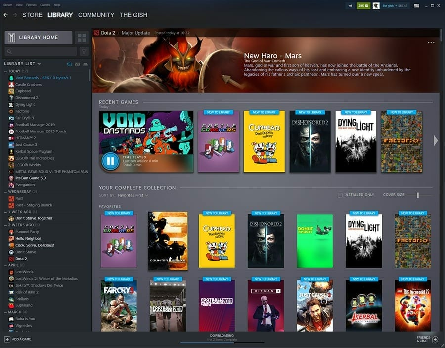 Steam Library update
