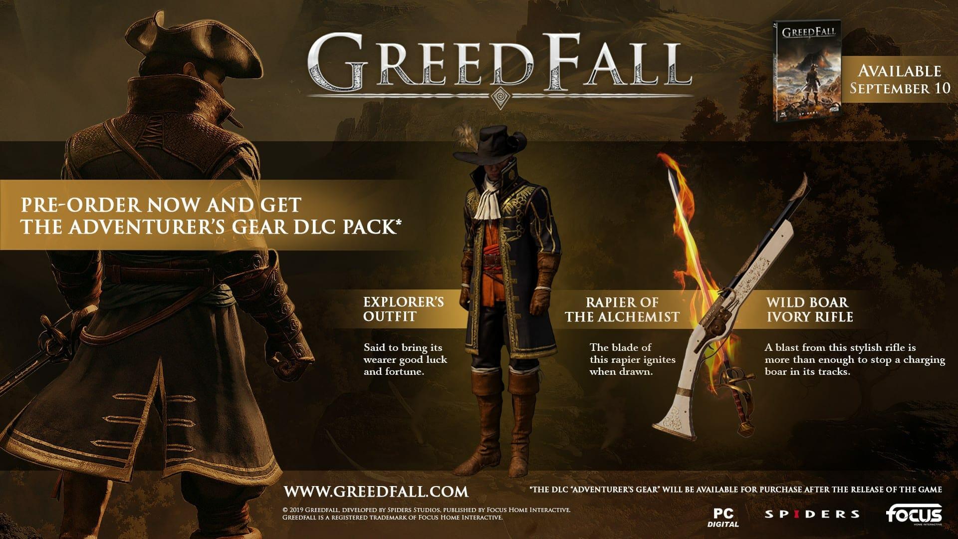 Greedfall Pre-Order Bonus