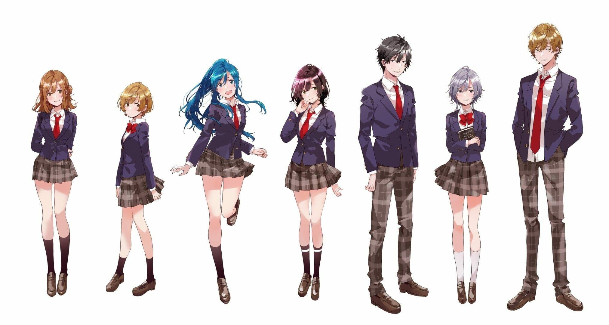 Jaku-chara Tomozaki-kun anime characters