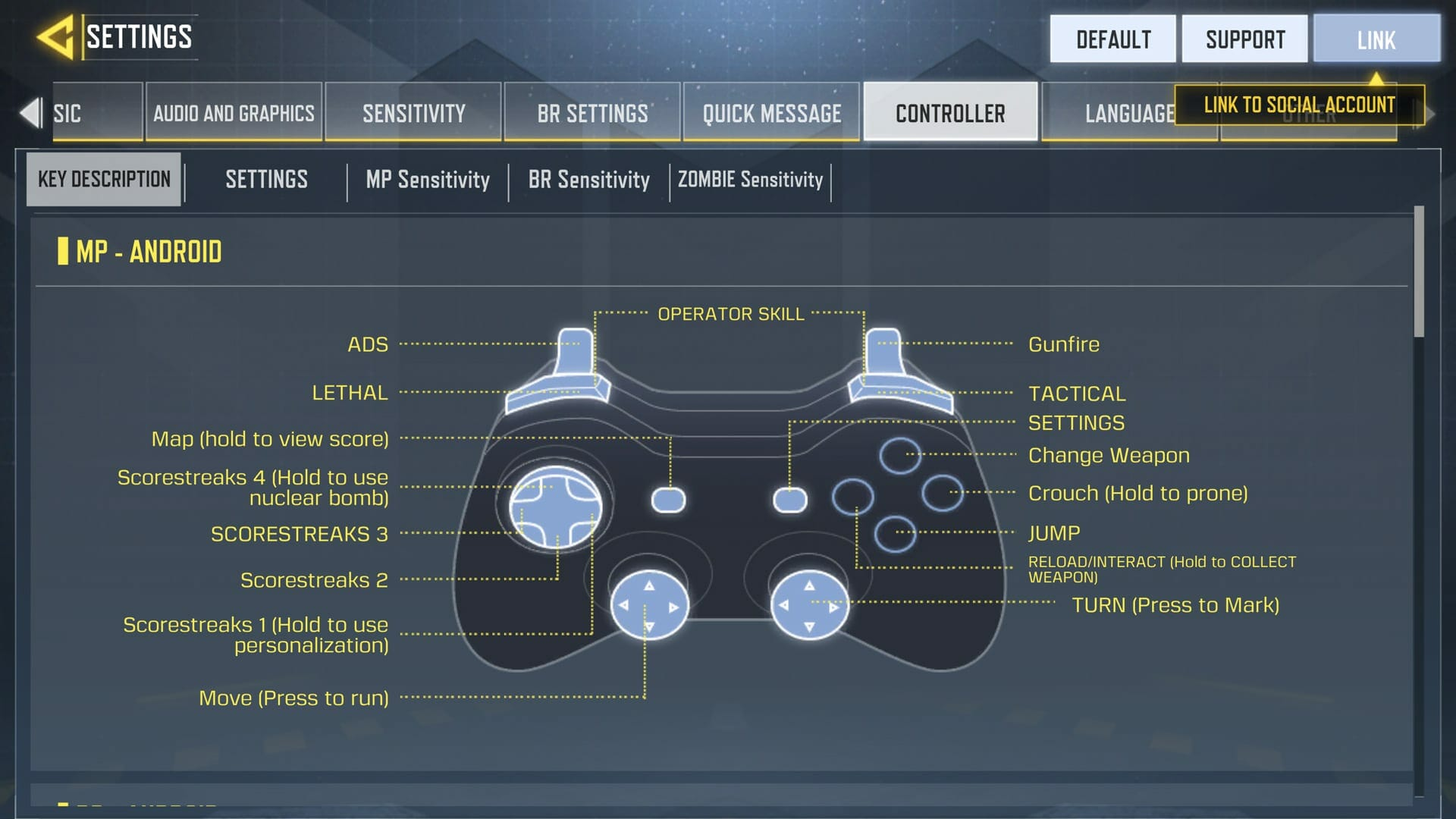 Controller with COD Mobile