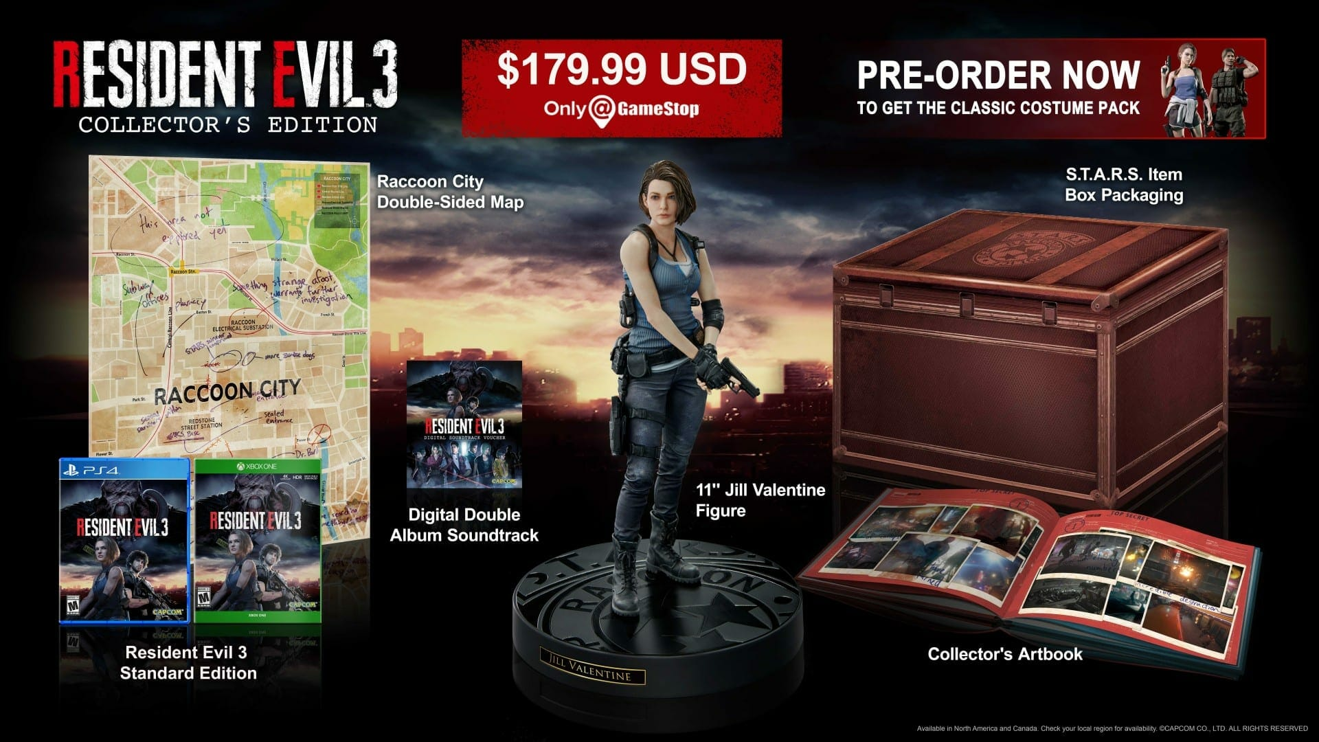 Collectors Edition - Resident Evil 3 Remake: Release date, Pre-Order and Project Resistance Details Revealed