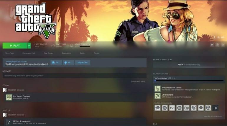 GTA V Files on Steam