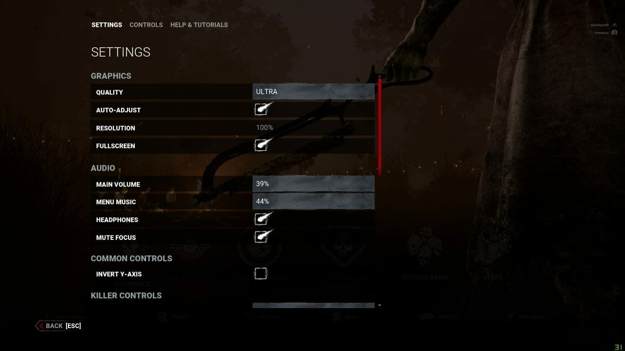 Dead by Daylight resolution issue