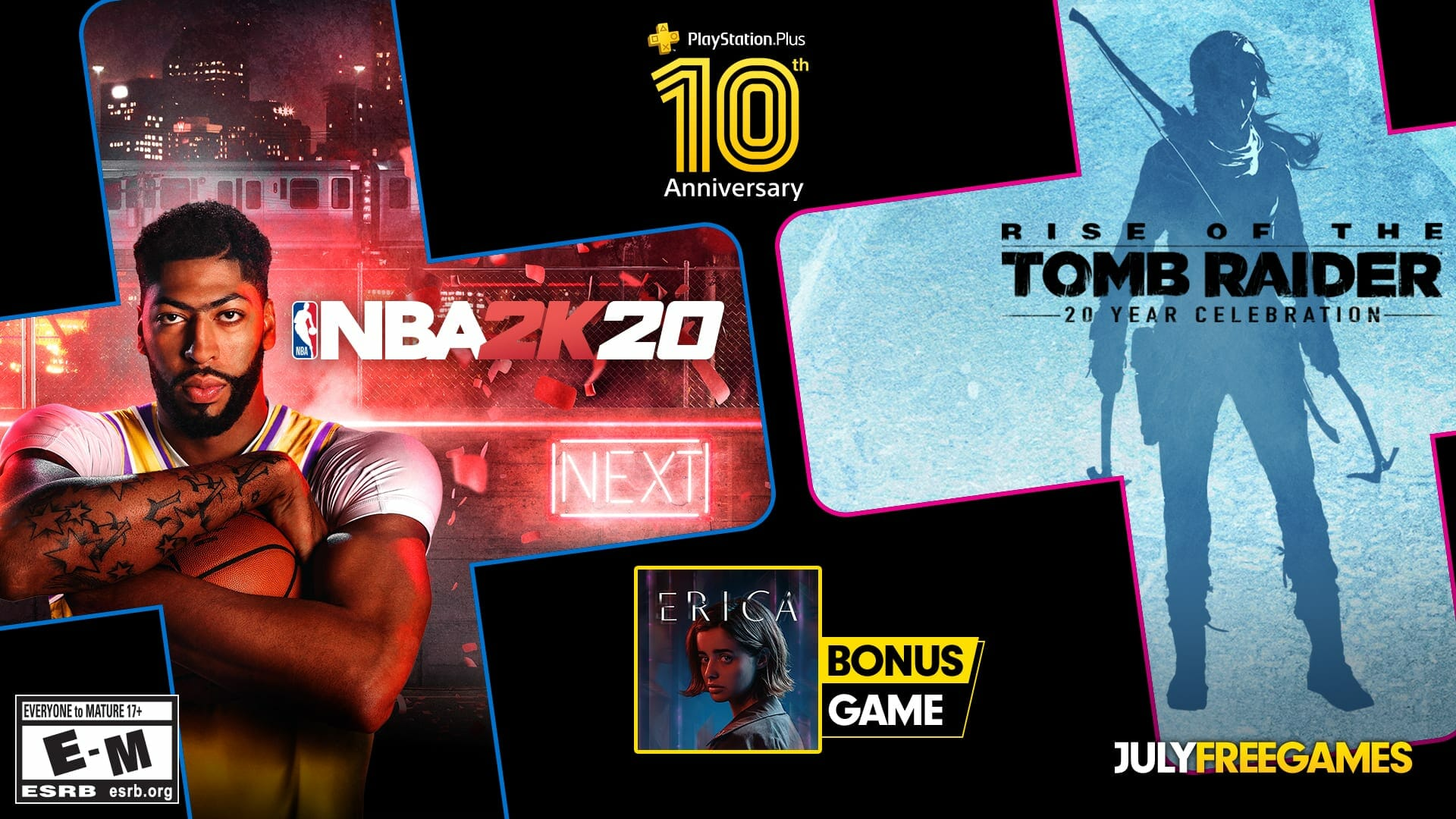 PS Plus July 2020 Games