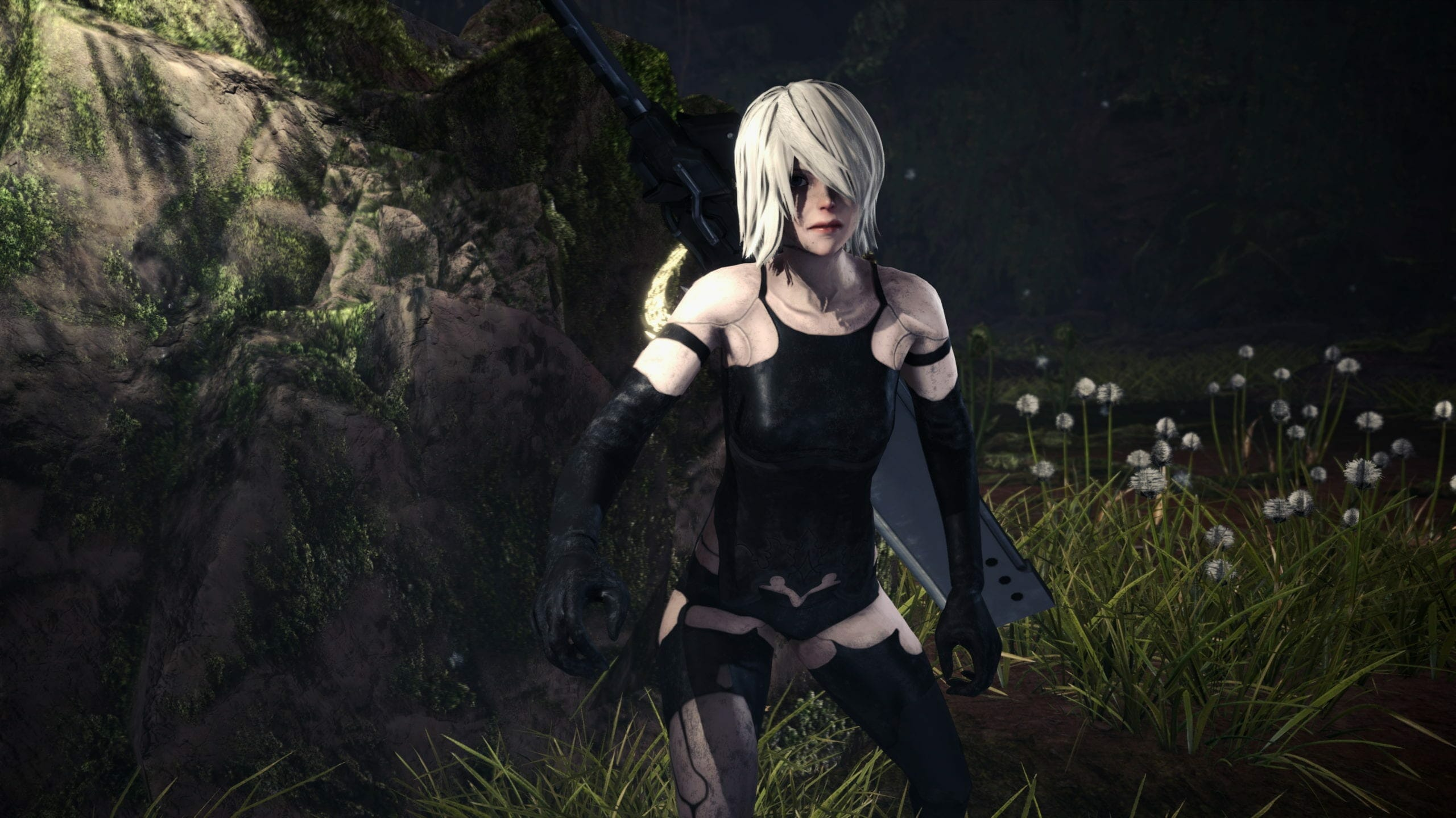 Monster Hunter World A2 'YoRha' Outfit Mod