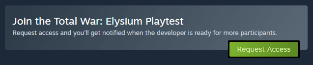 Request Beta Access On Steam
