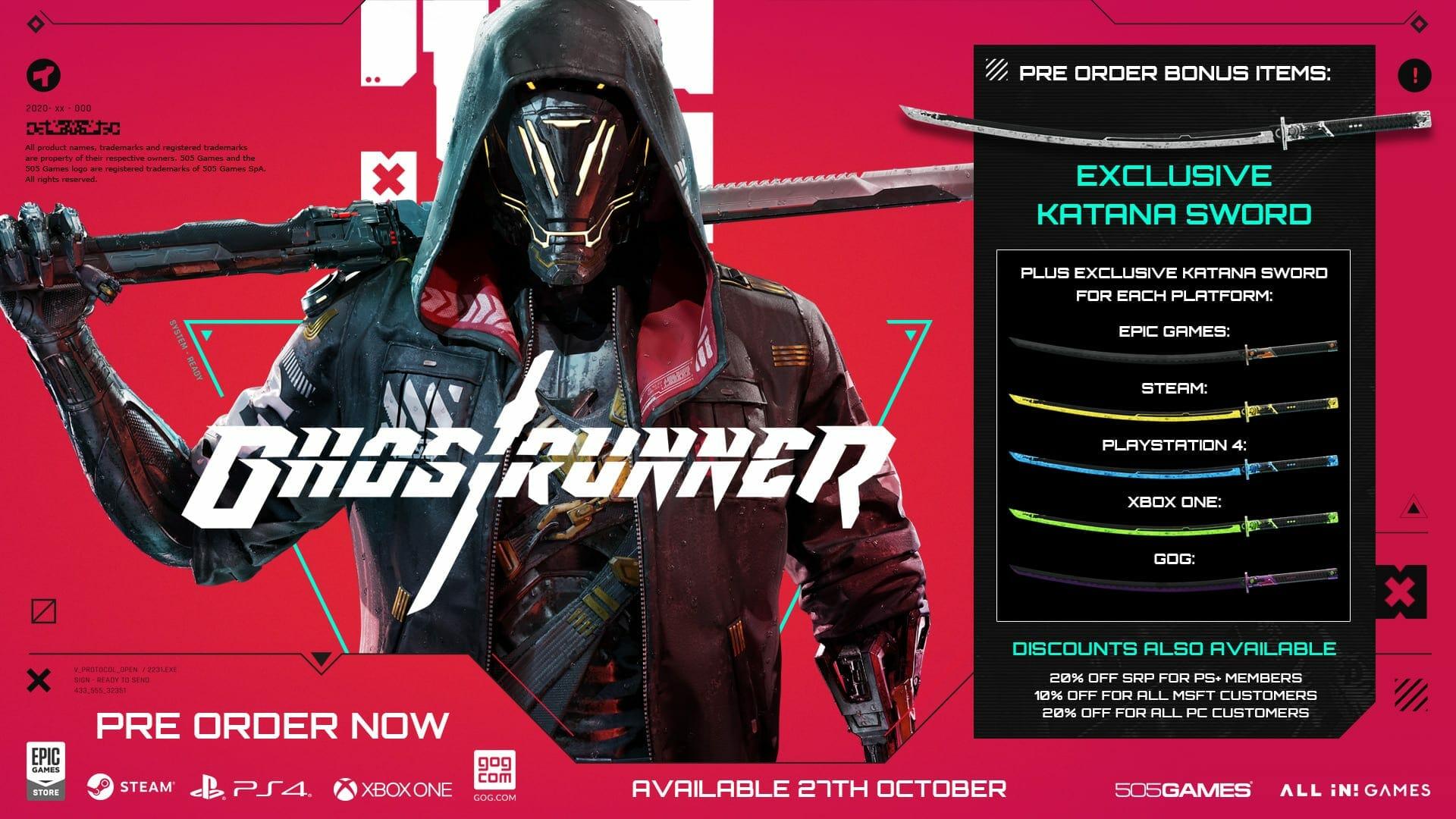 Ghostrunner Pre-Order Bonus