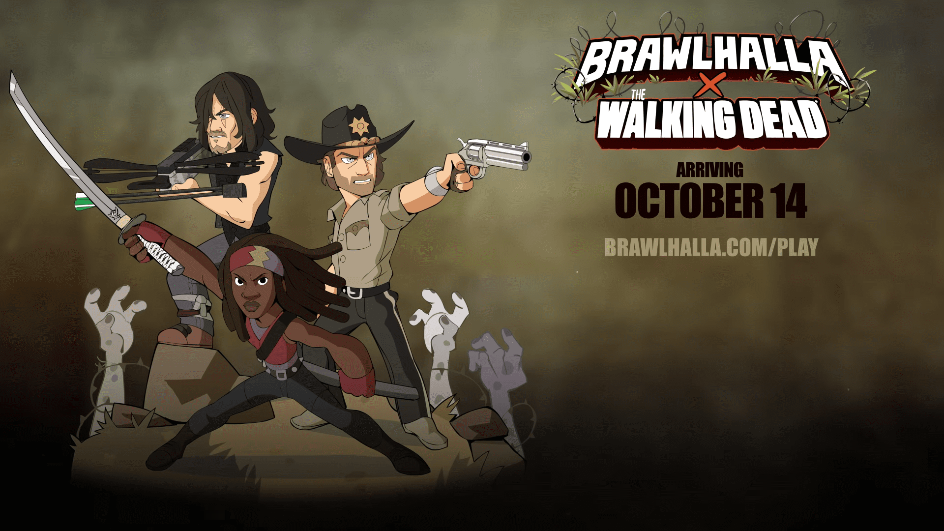 The Walking Dead and Brawlhalla Crossover