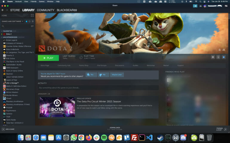 Dota 2 Stutters on macOS
