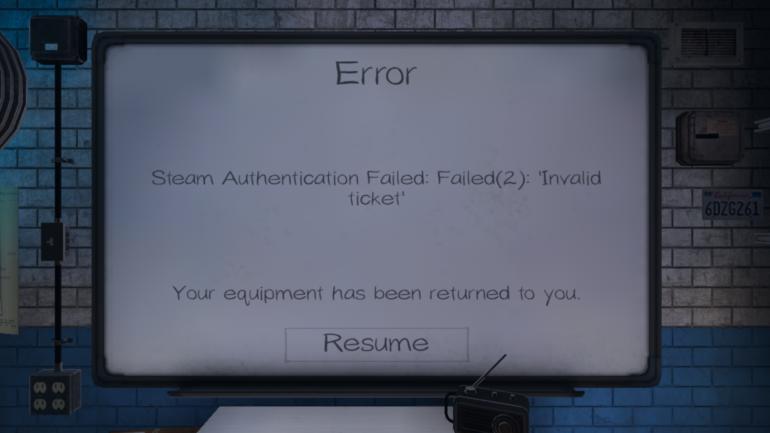 Phasmophobia Steam Authentication Failed