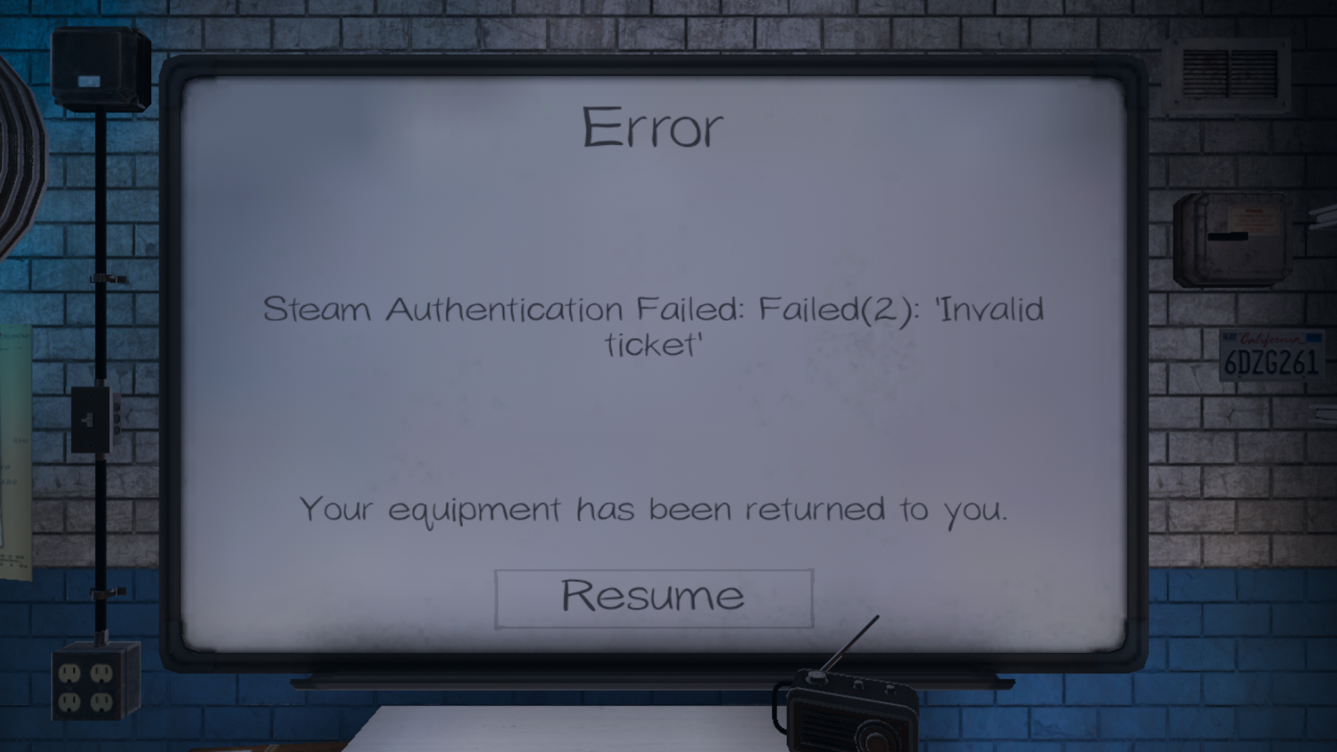 Phasmophobia Steam Authentication Failed