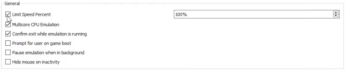 General yuzu settings  for Yuzu Nintendo Switch Emulator