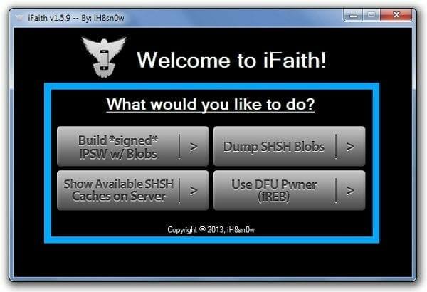 Build Signed IPSW iFaith Downgrade iOS 7 to iOS 6.1.2 / iOS 6.1.3