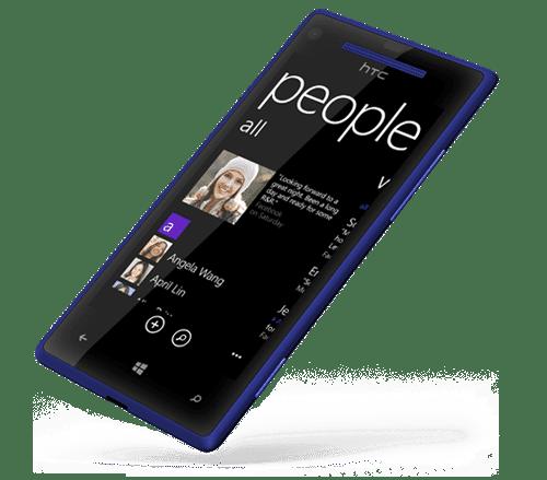 HTC WP 8X back-blue