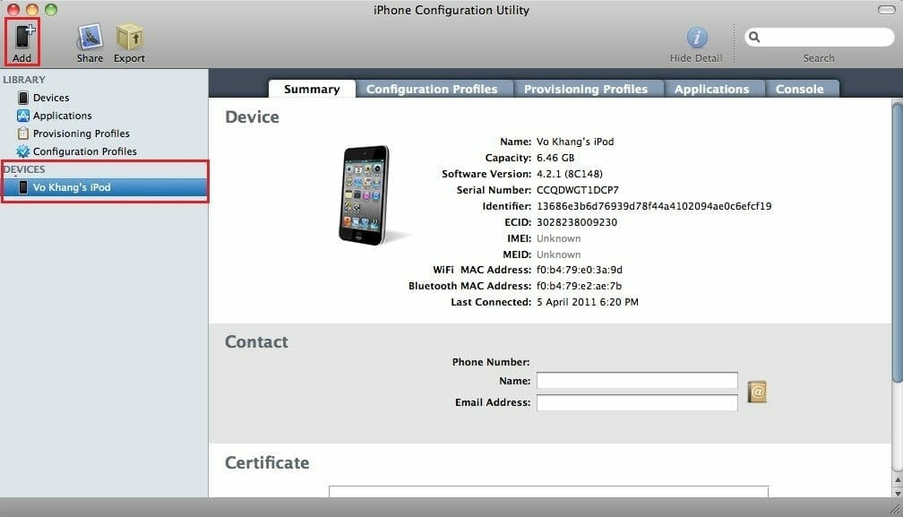 iphone configuration utility mac install whatsapp on ipod or without jailbreak guide 15227