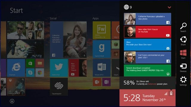 Windows 8.2 Concept Windows 8.2 Concept shows Modern UI on the Desktop