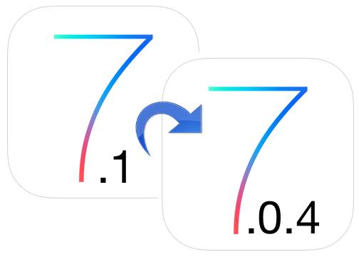 downgrade ios 7.1 to ios 7 Downgrade iOS 7.1 to iOS 7 via iTunes