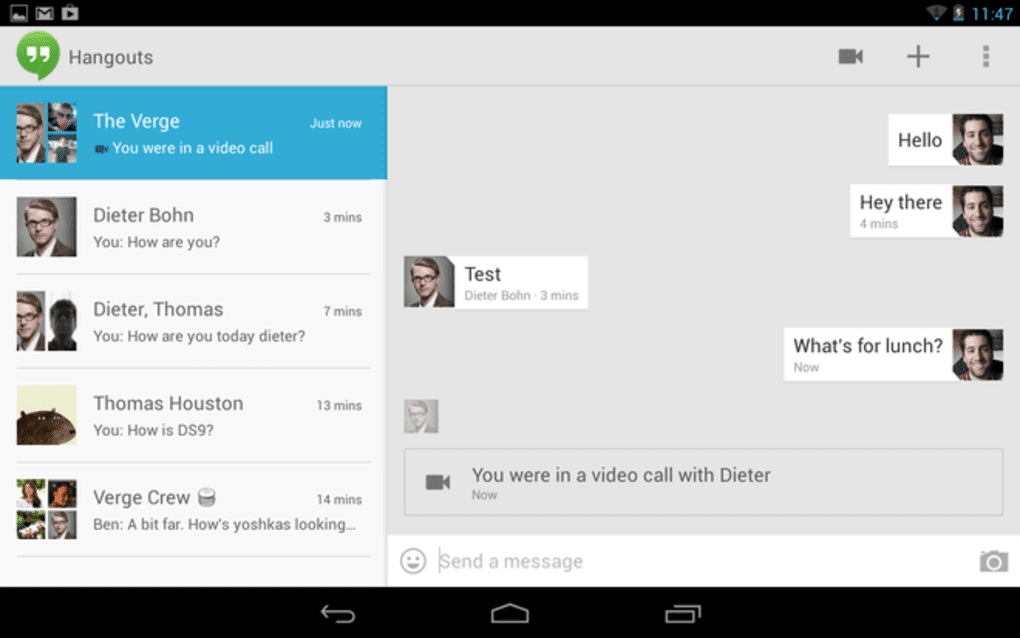 Download Free Unified Messaging App Google Hangouts for Android, iOS