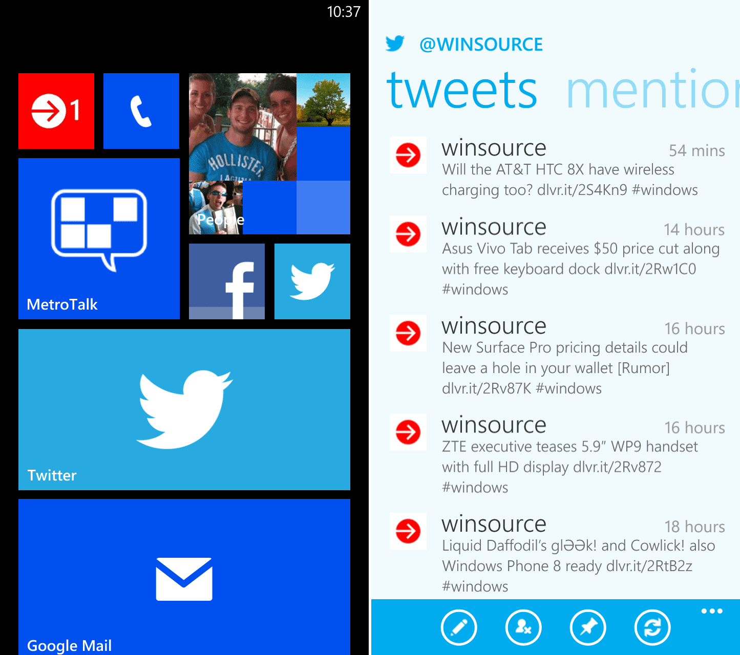 Twitter app for Windows Phone updated, brings numerous ...